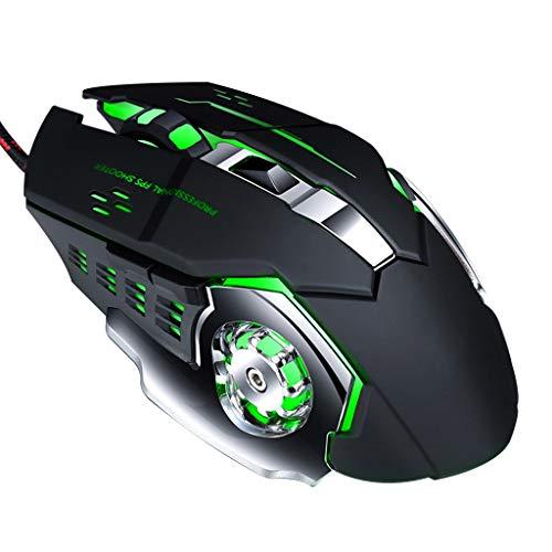 Huy Mechanische Makroprogrammierung 7 Color Luminous Gaming Mouse 4-Fach DPI-einstellbare Kabelgebundene Computermaus , Für Gaming Office