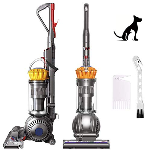 Dyson Ball Multi Floor, Upright Vacuum Cleaner, Powerful Suction, HEPA Filter, Self Adjusting Cleaner Head, Instant Release Wand, Bagless, Width Cleaning Path, Iron/Yellow, Bundle W/GM Cleaning Brush