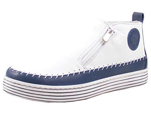 Gemini Damskie skórzane botki Boots 342330-02, niebieski - niebieski - 37 eu