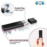 Diktiergerät Stimmenaktivierung USB Stick | 26 Stunden Batterie | microUSB Stecker für Smartphone Kompatibilität | 8GB - 94 Stunden Kapazität