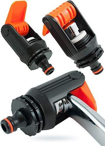 GH TRADE Wasserhahn Adapter mit auslauf für Garten Mischbatterie Küche Schlauch Verbinder Fitting