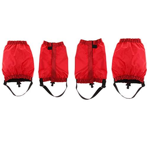 sharprepublic 2 paar waterdichte wandeltochten lopen klimmen sneeuw leggings enkellaarsjes beenkappen - rood