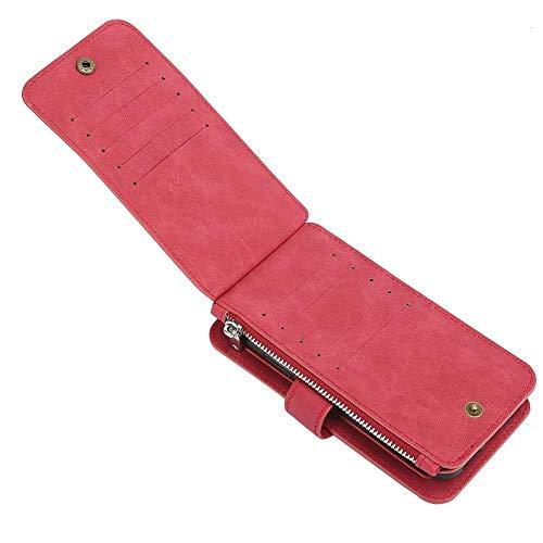 Carteira Bolsa Smartphone, capa para celular, capa para celular, loja de cartões vermelhos segura e durável para celular(red, Iphone X/XS)