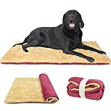 tvmall cuscino per cani morbido grande coperta per cani gatti lavabile reversibile lettino per animali viaggio all'aperto, materasso per auto a cani di piccola media e grande taglia, rosso 110x70cm