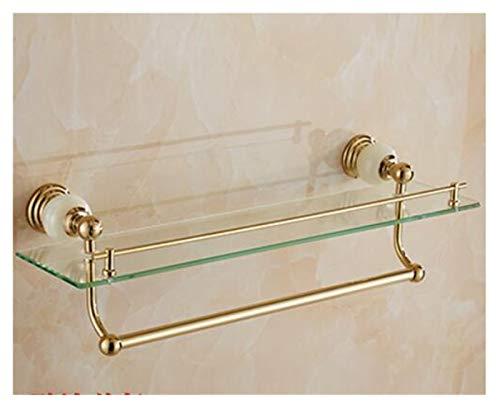 Accesorios BañO Conjunto de accesorios de baño de latón y jade, cepillo de oro tolet, soporte de papel, barra de toalla, cesta de jabón, conjunto de hardware de baño de toalla Toallero