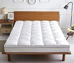 "COMFORT BOOST Extra Thick Mattress Topper. All Season Cooling Bed Topper. 400TC, Down Alternative Fill, 21"" Deep Pocket (Queen)"