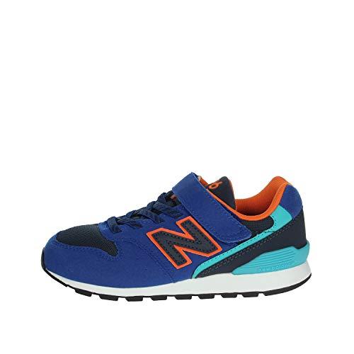 New Balance Kinder Low YV996TBV Blue/Orange (blau) - Sportschuh - Kinderschuhe Teens Jungs Gr. 25-42, Blau, Leder/Textil/Synthetik blau 818216