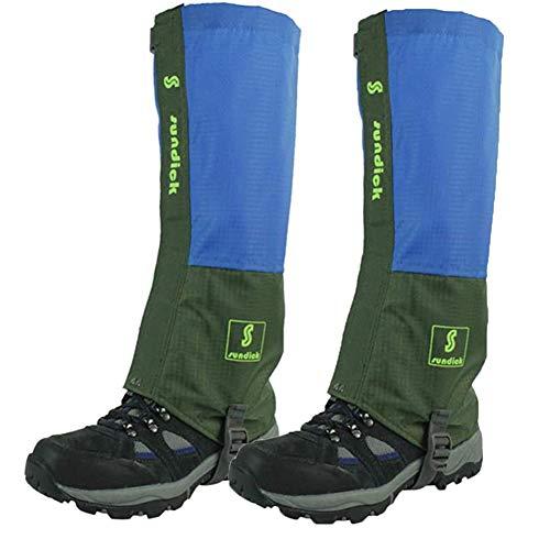 Tentock 1 Paar Gamaschen Wasserdicht Atmungsaktiv Schneegamaschen für Bergsteigen Trekking(grün)