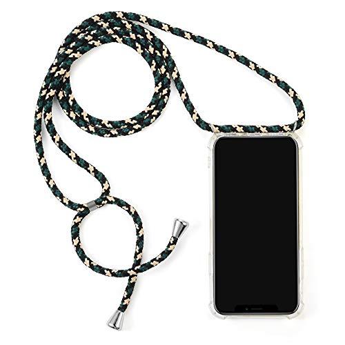 Akroche La Paulette - Phone Smartphone Necklace Case Coque Collier Lanière Téléphone Portable (Compatible avec iPhone 8 Plus)