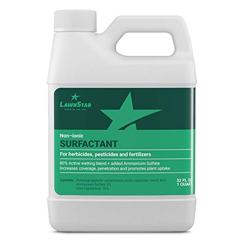 Surfactant (32oz - 2 Pints) Non Ionic Spreader Sticker for Pre Emergent & Fertilizer with Ammonium Sulfate - Increase Coverage, Penetration & Maximize Spray Performance