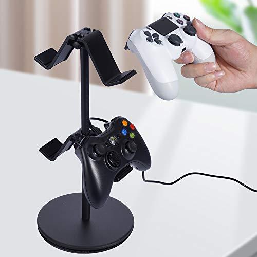ゲームコントローラー収納ラック優雅独自の対称設計コントローラースタンド置いたまま充電可能卓上ヘッドホンスタンド組み立て簡単4つまで配置でき(ウィズダムブラック)約W16XD16XH38cm