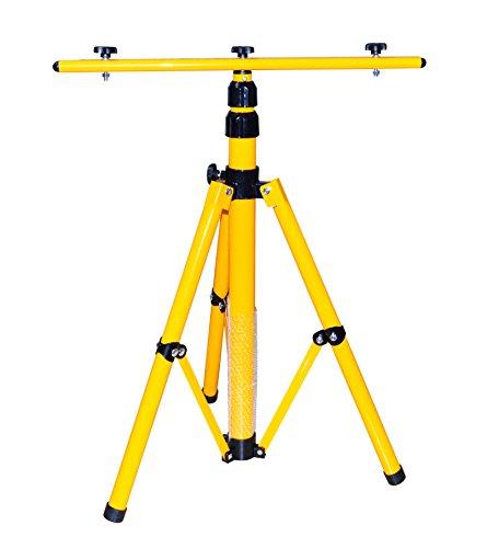 Stativ für LED-Strahler, Halogen-Strahler, Baustrahler usw. Höhenverstellbar bis 1,60 m, gelb