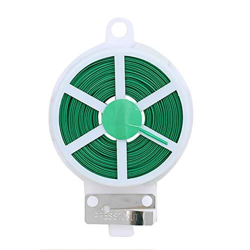 Baffect Distributeur de Liens torsadés avec Coupe-Fil, Fil de rangée de Torsion 20M pour Le câble en Plastique de Fil en Plastique d'organisateur (50M)