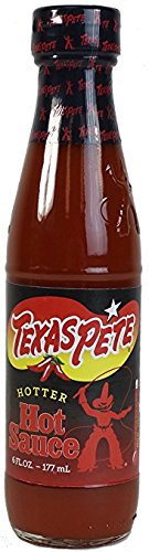 Texas Pete Hotter Hot Sauce - 6 ozs. (Pack of 3)