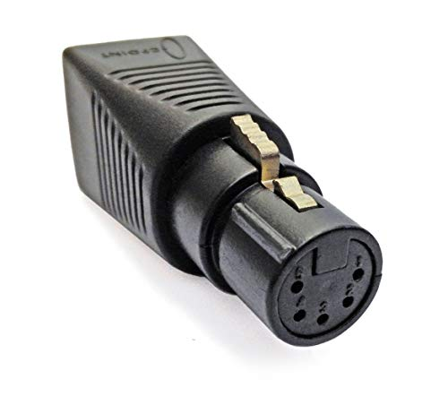 CPoint XLRJ45-5F 5 Pin XLR Female to RJ45 DMX Adapter