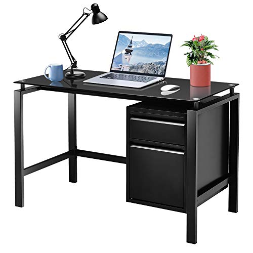 home office desk with storages Computer Desk with Storage Drawer Under Desk, 46