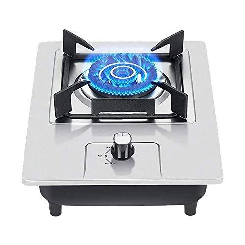 HLZY Estufa al Aire Libre/de Interior Eficiente y Duradero de Gas Placa de cocción de sobremesa Estufa a Gas, Embedded Individual Cocina, 5,0kW de Po