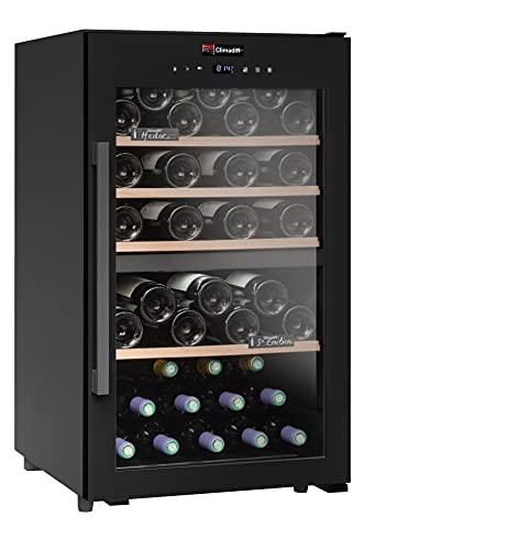 Cueva para vino de servicio de doble zona CD56B1-56 - Climadiff - Control táctil - Funcionamiento silencioso y sin vibración - Ahorra espacio - Disfruta tu vino a una temperatura ideal