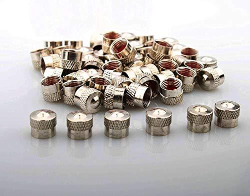 RUNCCI-YUN 60pcs ventilkappen Metall Auto, mit Gummiring Dichtung Radventilkappen,Reifen Ventilkappen, für Auto Motorad Fahrrad Roller und Kinderwagen