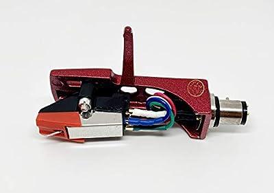 Red Headshell, mount, cartridge and stylus, elliptical needle for Numark TT100. TT200, TT500, TT1510, TT1529, TT1550, TT1520, TT1600, TT1610, TT1625, TT1650, TT1700, TT1910
