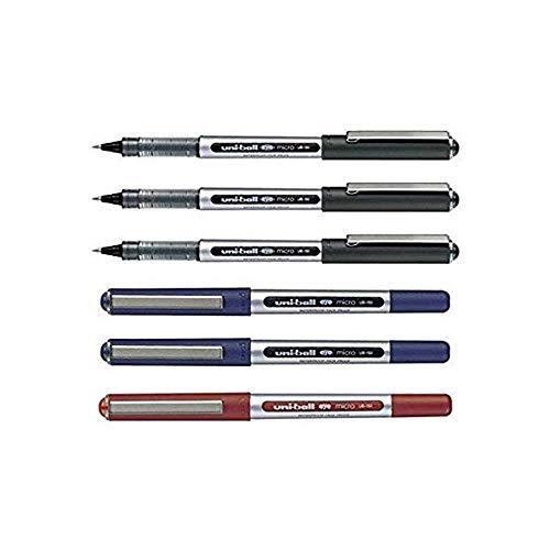 Uni-Ball ub-150Eye micro penne roller a inchiostro liquido, confezione da 6