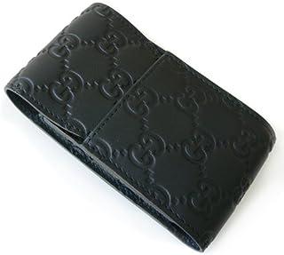 (グッチ)GUCCI シガレットケース 181716 A0V1R 1000 タバコケース GG柄レザー/グッチ シマ ブラック [並行輸入品]