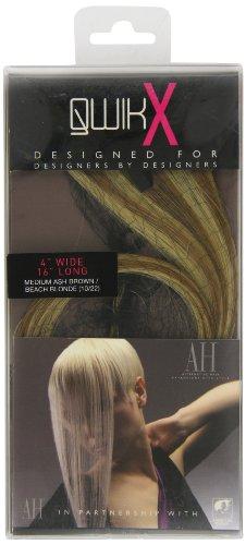American Dream - AH/A1/QX/16/10/22 - Qwik X - 100 % Cheveux Naturel - Indien Remi Extensions - Couleur 10/22 - Blond Cendre Moyen / Blond Plage - 41 cm
