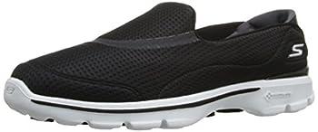 Skechers Performance Womens Go Walk 3 Unfold Walking Shoe,Black/White,7.5 M US