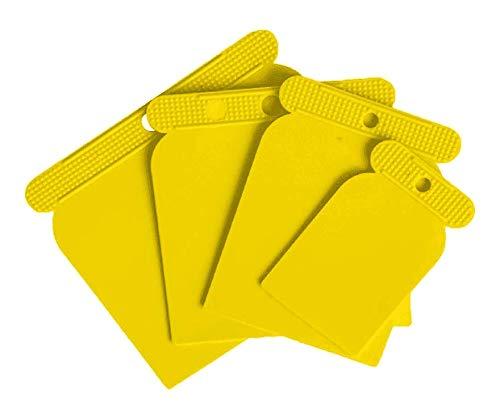 Espatulas Carrocero Plastico para Masilla, 4 piezas (50, 80,