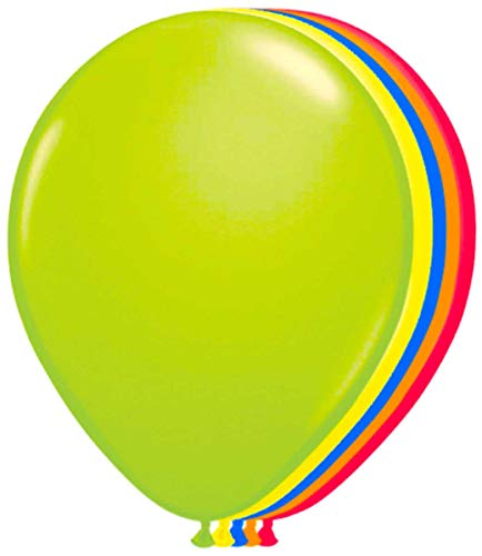 Folat B.V.-Balloons various colours Globos varios colores neón-25 cm-50 piezas, (08166)