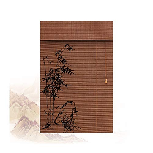 Persiana Bambú, Cortinas Decorativas Retro para Persianas Enrollables, Protección Solar, Filtrado De Luz, Disponible En Varios Tamaños PENGFEI (Color : A, Size : 150cmX135cm)