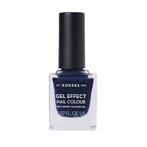 Korres Gel Effect Sweet Almond Nagellack, 88 steel blue,1er Pack (1 x 10 ml)
