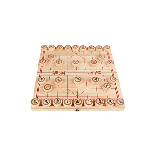 Chess Wooden Chinese Chess Set Folding Chess Board to Send Children's Elders' Best Gifts Game ( Size : L )