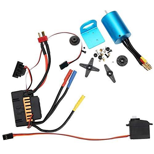 Alomejor 1 Set 540 Brushless Motor 60A ESC Kit para RC Car 1/18 A959 A979 A969 Accesorio