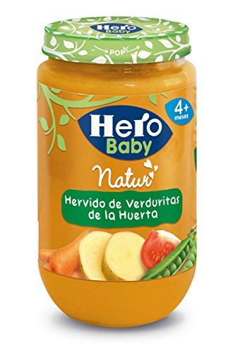 Hero Baby Natur Alimento para bebés Hervido de Verduritas de La Huerta a partir de 4...