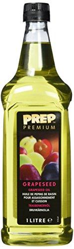 PREP PREMIUM Traubenkernöl 1 x 1000 ml PET mildes, geschmacksneutrales Öl, rohkostqualität natürlicher Geschmack für Pfannengerichte Saucen & Marinaden, sehr hoch erhitzbar