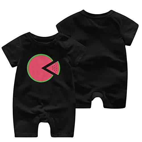 Mark Stars Wassermelone Pizza Mädchen Junge Kind Baby Strampler Kurzarm Baby Body(2 t,schwarz)