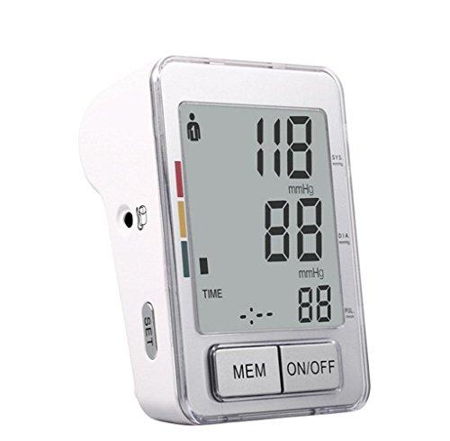 HRRH Oberarm-Typ Voller automatischer elektronischer Blutdruck-Monitor Haushalt Intelligent Voice LCD Messinstrumente Genauigkeit Medizinische Grade Tragbare Blutdruckmessgerät für ältere Eltern