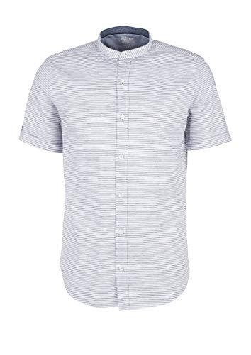 s.Oliver 130.10.004.11.120.2042165 Camisa, Rayas Blancas, XXL para Hombre