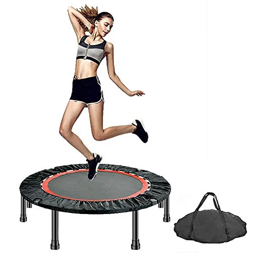 Mini trampolín Plegable de 40'48', trampolín Fitness Adulto, Entrenamiento para Adultos en Interiores/jardín, reboteador de Fitness con Mango de Espuma Ajustable,No armrests,40''