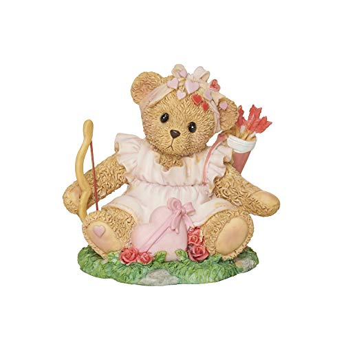 Roman Cherished Teddies Betty Valentine Figur 7,6 cm H Harz und Wollastonit Langlebig Sammlerstück Dekoration Deko Figur Home Decor