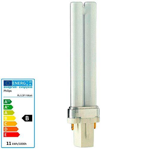 10x Philips MASTER PL-S 9W/830 G23 2PIN (2-Stift) Warmweiß 3000K Energiesparlampe 167mm