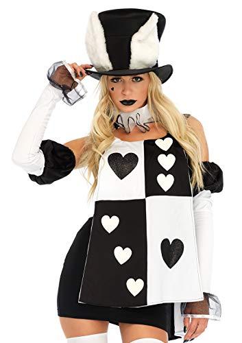Leg Avenue Damen Wonderland Rabbit Erwachsenenkostüme, Black, White, M