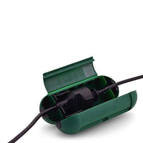 Kabelskydd och kontaktskydd Säkerhetsbox säkerhetsbox för kablar och kontakter perfekt för trädgården strömfördelare utomhus för ökad säkerhet med kabelanslutningar