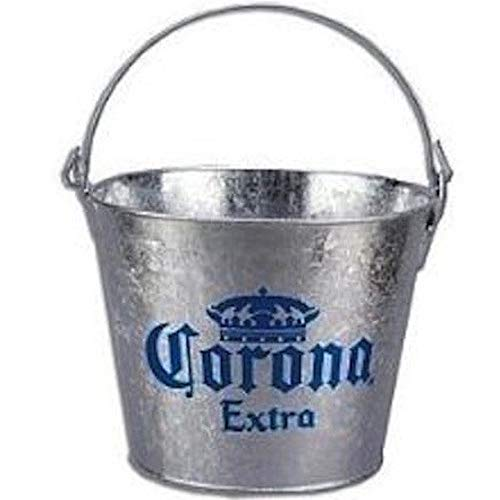 Corona Extra Galvanized Beer Bucket W/Built-In Bottle Opener