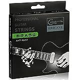 Hricane 22 corde per chitarra acustica e western in ottone 92/8, extra Light .010...