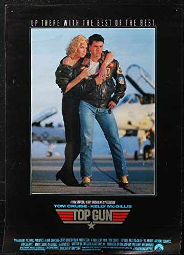 TOP GUN 17'X24' Original Movie Poster Half Sheet 1986 Tom Cruise Hand Out Poster Rolled.