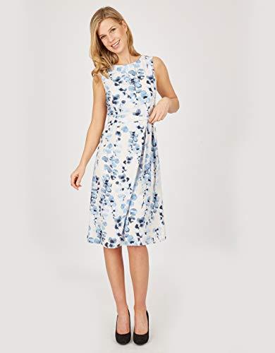 STEILMANN by Adler Mode Damen Kleid blau/weiß 48