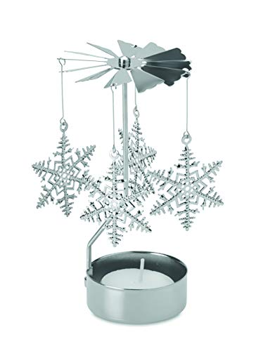 noTrash2003 Weihnachts Karussel Weihnachtspyramide als Teelichthalter aus Metall inklusive Teelicht