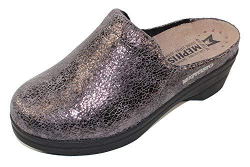 Mephisto Women's Slide Sandal, Dark Grey, 9